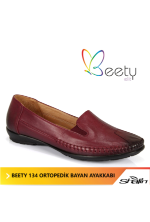 Beety 134 Bordo Ortopedik Bayan Ayakkabı
