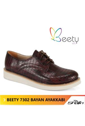 Beety 7302 Kahve Bağcıklı Bayan Ayakkabı
