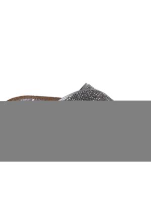 Shalin Gul 090 Gri Taş Bayan Terlik