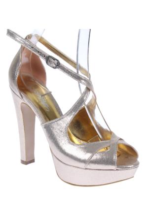 Shalin Tlg 19 Altın Bayan Sandalet