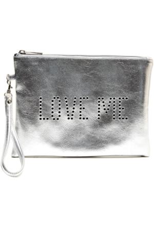 Hogg Love Me Silver Çanta 25x17 Cm