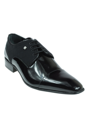 Fosco Hakiki Deri Bağlı Klasik Siyah Erkek Ayakkabı