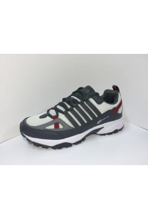 M.P. 161-1016 Trendline Beyaz-Gri-Bordo Yürüyüş Spor Koşu Ayakkabı