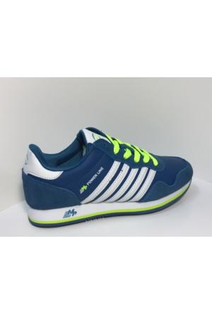 M.P. 162-1523 Powerline Petrol Yeşili - Limon Yürüyüş Spor Ayakkabı