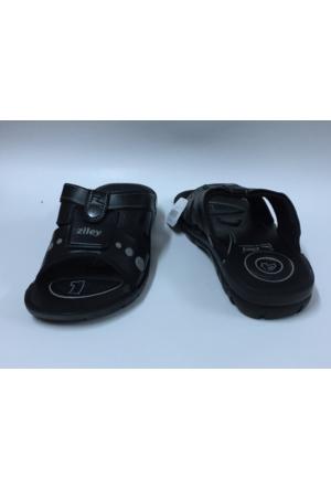 Ziley New Siyah Terlik Sandalet