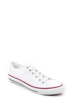 Gön Trend Ayakkabı 35991 Beyaz Keten