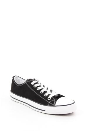 Gön Siyah Keten Trend Erkek Ayakkabı 35991