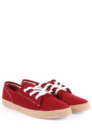Gön Kadın Ayakkabı 35993 Bordo Keten