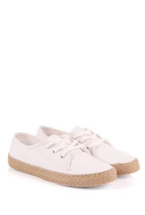Gön Kadın Ayakkabı 35993 Beyaz Keten