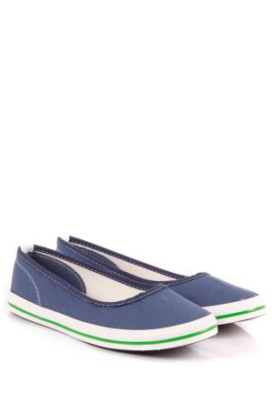 Gön Kadın Ayakkabı 35998 Mavi Keten