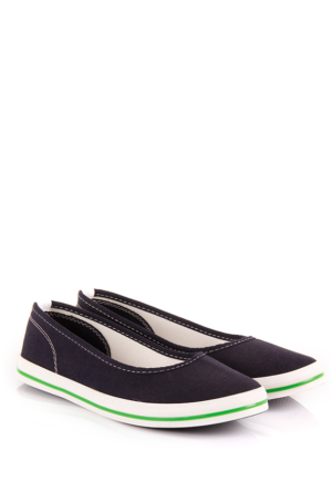 Gön Kadın Ayakkabı 35998 Lacivert Keten