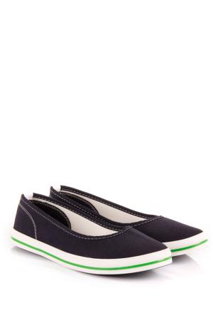 Gön 35998 Lacivert Keten Trend Kadın Ayakkabı