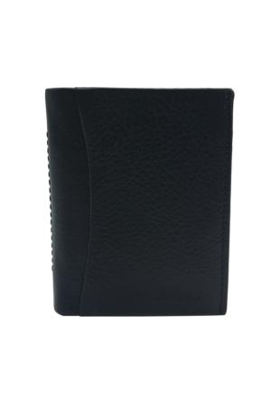 Tony Bellucci T133-982 Siyah Gerçek Deri Mini Cüzdan