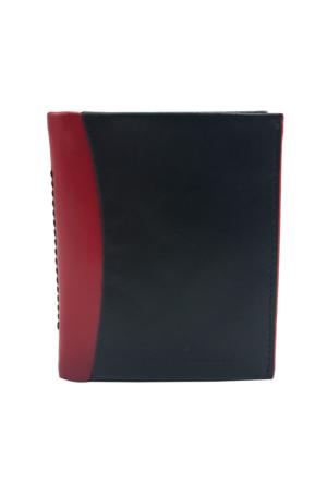 Tony Bellucci T134-999-995 Siyah-Kırmızı Gerçek Deri Kartlıklı Mini Cüzdan