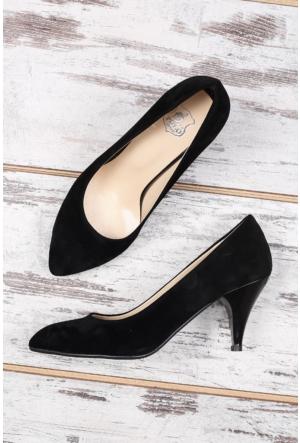 B.F.G Polo Style Siyah Bayan Stiletto Ayakkabı