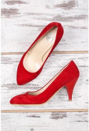 B.F.G Polo Style Kırmızı Bayan Stiletto Ayakkabı