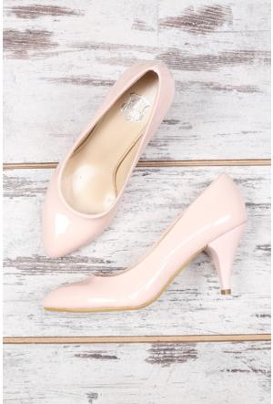B.F.G Polo Style Pudra Bayan Stiletto Ayakkabı