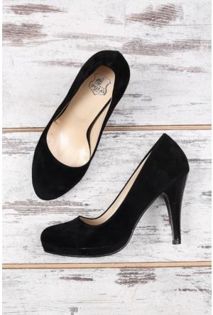 B.F.G Polo Style Siyah Bayan Platform Ayakkabı