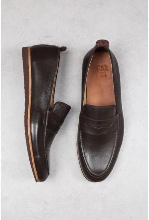 Crops Sport Kahverengi Hakiki Deri Ayakkabı