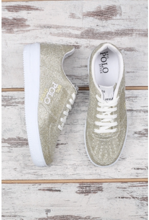 B.F.G Polo Style Altın Bayan Spor Ayakkabı