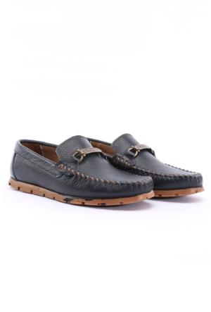 B.F.G Polo Style Lacivert Hakiki Deri Ayakkabı