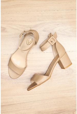 Limited Edition Ten Bayan Kısa Topuklu Sandalet