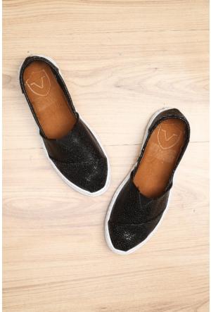 Limited Edition Siyah Bayan Hakiki Deri Ayakkabı