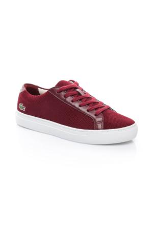 Lacoste L1212 Kadın Koyu Kırmızı Sneaker Ayakkabı 733CAW1063.112