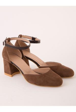 Mecrea Silvia Kahve Topuklu Ayakkabı
