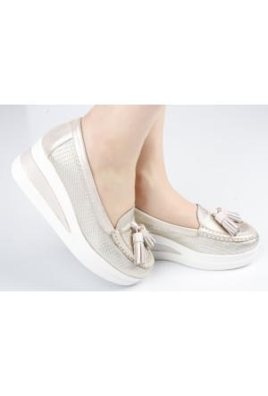 Veyis Usta Anne Model Bayan Ayakkabı Püsküllü