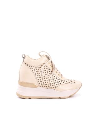 Rouge Kadın Sneaker Ayakkabı Krem Rengi 171RGK257 15280