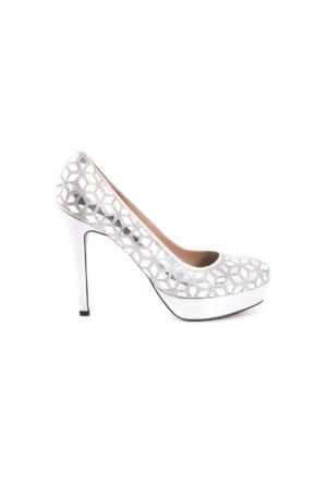 Rouge Kadın Abiye Ayakkabı Gümüş 171RGK668 3101-460