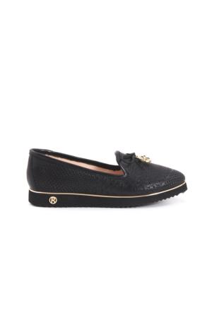 Rouge Kadın Espadril Ayakkabı Siyah 171RGK277 8007