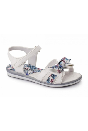 Vicco Fiyonklu Kız Sandalet Beyaz