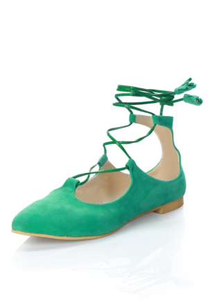 Oflaz 203 Suet Su Yeşilı Babet Ayakkabı