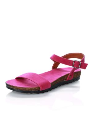 Mag Shoes 007 Fusya Ponponsuz Sandalet