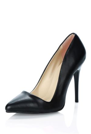 Waito Wc001D Siyah Topuklu Ayakkabı