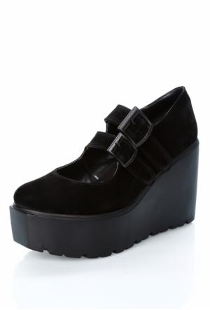 Tibu Ya101 2 Siyah Suet Ayakkabı