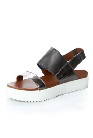 Inuovo 1 6001 Pewter Lea-Pewter Rubber Ayakkabı