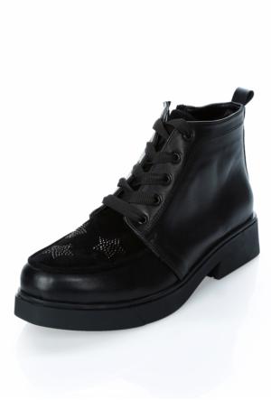 Tibu At809 Siyah Cıt Siyah Tıldız Ayakkabı