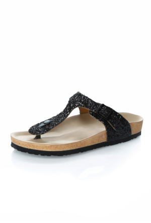 Gula 01S Siyah Simli Ayakkabı