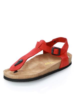 Tibu 002 Kırmızı P.Sandalet