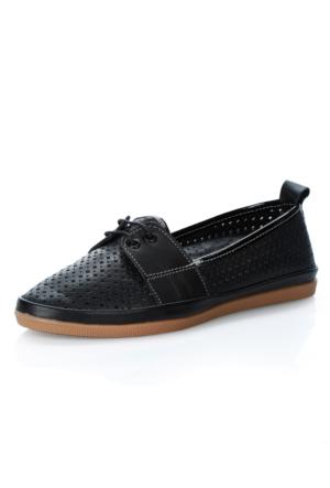 Oflaz 41 Siyah Deri Ayakkabı
