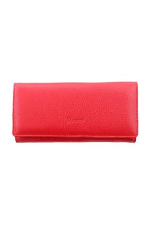 Derkon Style 008 Kadın Deri Cüzdan Kırmızı