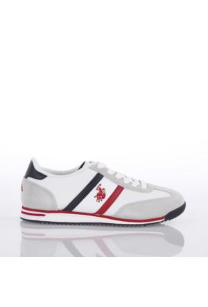 U.S. Polo Assn. Bayan Ayakkabı Luton Beyaz