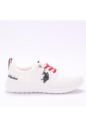 U.S. Polo Assn. Kadın Ayakkabı Honey Beyaz