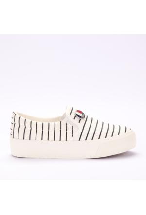 U.S. Polo Assn. Kadın Ayakkabı Mockıng Beyaz