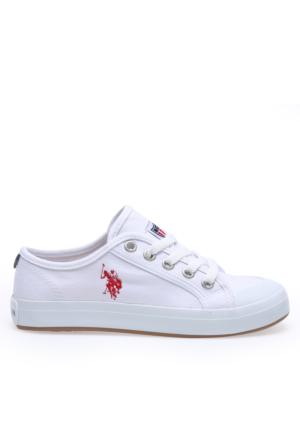 U.S. Polo Assn. Bayan Ayakkabı Bud Beyaz