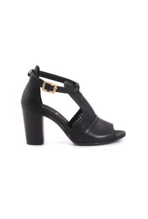 Kemal Tanca Kadın Siyah Topuklu Sandalet