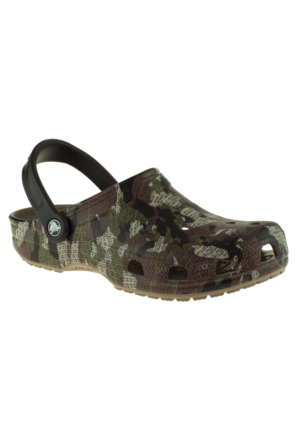 Crocs 204154 Classic Camo Clog Haki Unisex Terlik